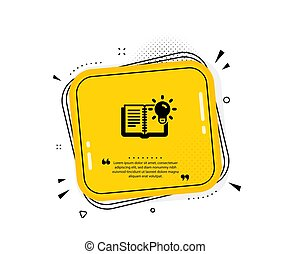 Product knowledge icon. Education process sign. Vector