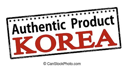 product, korea, authentiek