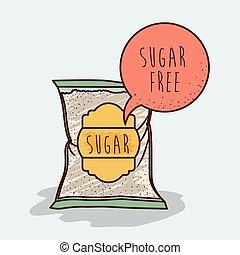 product, kosteloos, suiker