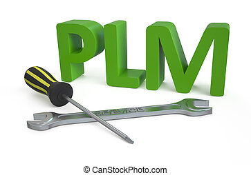 product lifecycle management (PLM) service concept isolated...