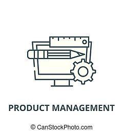 Product management vector line icon, linear concept, outline sign, symbol