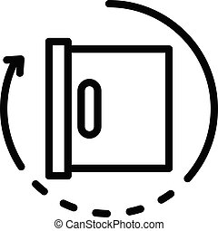 Product manager box icon, outline style - Product manager ...