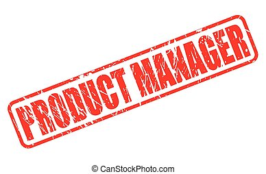 Product Manager red stamp text