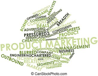 Product marketing - Abstract word cloud for Product...