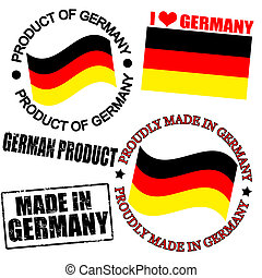 Product of Germany stamps