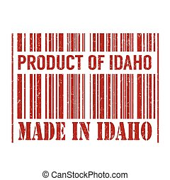 Product of Idaho, made in Idaho stamp