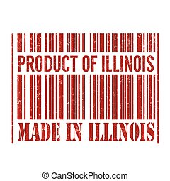Product of Illinois, made in Illinois stamp
