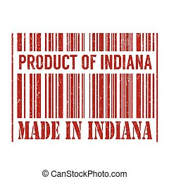 Product of Indiana, made in Indiana stamp