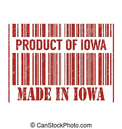 Product of Iowa, made in Iowa stamp
