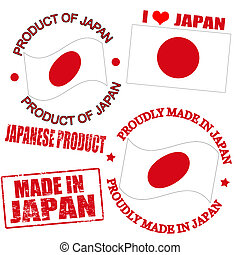 Product of Japan stamps