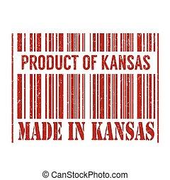 Product of Kansas, made in Kansas stamp