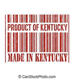 Product of Kentucky, made in Kentucky stamp