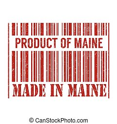 Product of Maine, made in Maine stamp