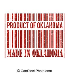 Product of Oklahoma, made in Oklahoma barcode stamp