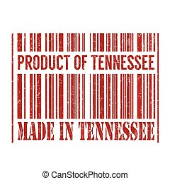 Product of Tennessee, made in Tennessee barcode stamp
