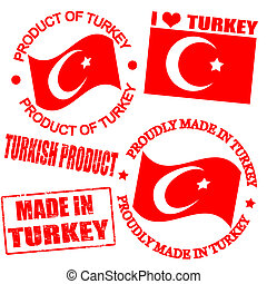 Product of Turkey stamps