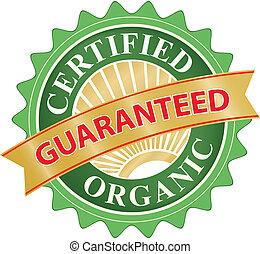 product, organisch, etiket