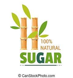 product, organisch, sugarcane, vrijstaand, suiker, boerderij, natuurlijke , pictogram