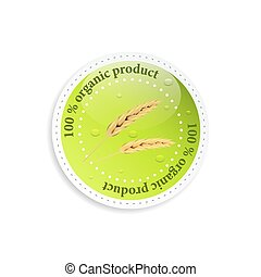 product, organisch, vector, label., of, pictogram