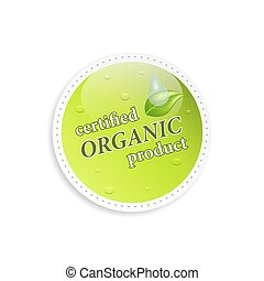 product, organisch, vector, label., of, pictogram