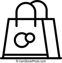 Product paper bag icon, outline style