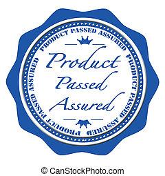 product passed assured stamp