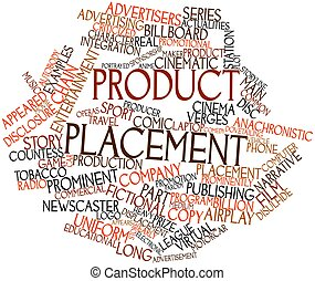 Product placement - Abstract word cloud for Product...