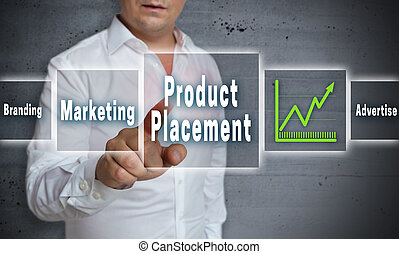 product placement touchscreen concept background