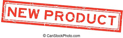 product, plein, grunge, postzegel, rubber, achtergrond, zeehondje, nieuw, wit rood