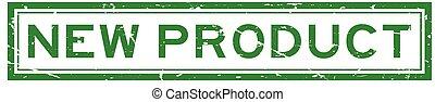 product, plein, grunge, postzegel, rubber, groene achtergrond, zeehondje, nieuw, witte