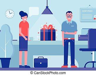 Product Presentation Concept Illustration