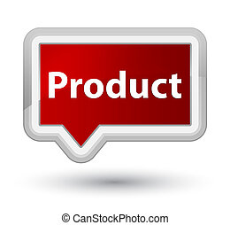 Product prime red banner button