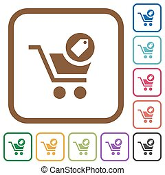Product purchase features simple icons
