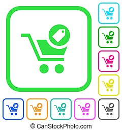 Product purchase features vivid colored flat icons