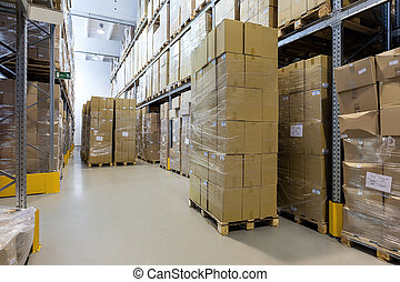 Product ready to send - Products in carton boxes ready to...