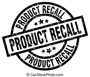 product recall round grunge black stamp