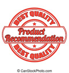 product recommendation stamp