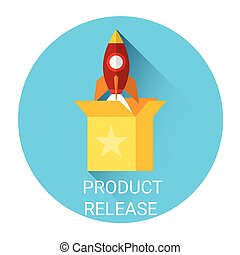 Product Release Business Partnership Icon Flat Vector...