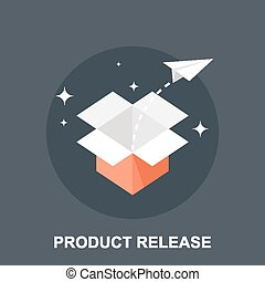 Product Release - Vector illustration of product release...