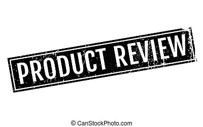 Product Review rubber stamp. Grunge design with dust...