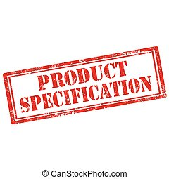 Product Specification-stamp - Grunge rubber stamp with text...