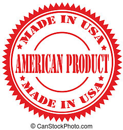 product-stamp, amerikaan