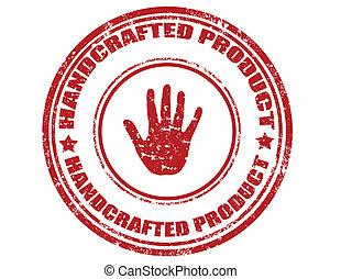 product-stamp, met de handen vervaardigd