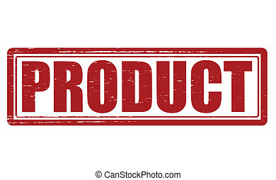 product stamp with word product inside vector illustration