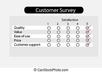 Product survey - Customer questionnaire survey about product