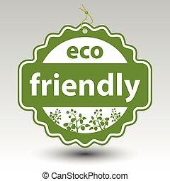 product, vector, eco, prijs, etiket, papieretiket, groene, vriendelijk