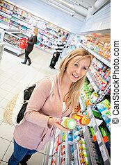 product, vergelijking, grocery slaan op