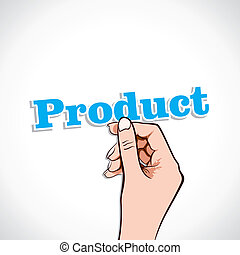 Product word in hand