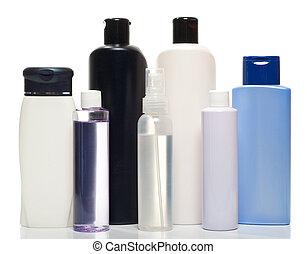 producten, gezondheid, flessen, verzameling, beauty