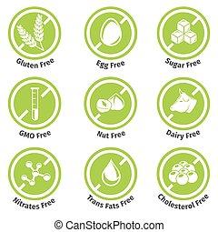 producten, stickers, allergeen, kosteloos